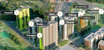 В казанском «Сказочном Лесу» появятся 23-этажная «Черемуха» и 25-этажная «Рябина»