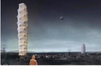 Архитекторы придумали складной небоскреб для катастроф