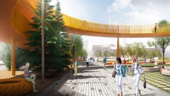 Смотровую площадку на площади Азатлык в Набережных Челнах покрасят в оранжевый цвет