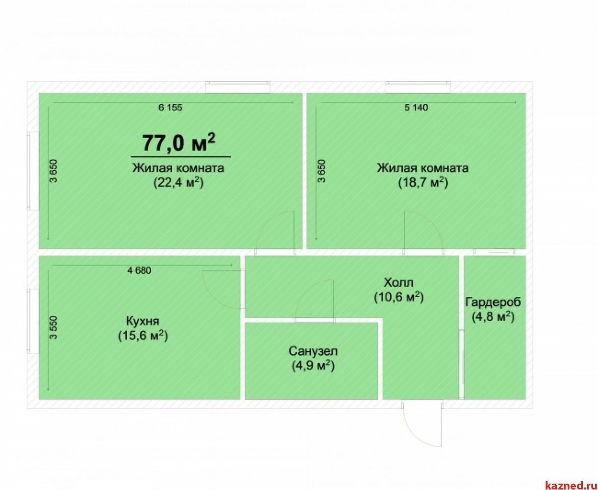Продажа 2-к квартиры Центральная, 77 м²  (миниатюра №1)