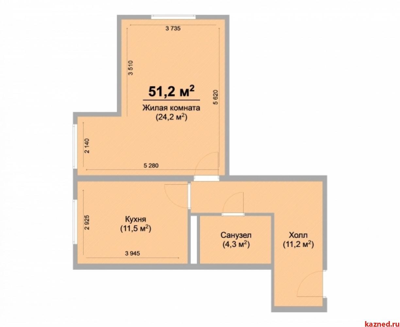 Продажа 1-к квартиры Центральная, 52 м2  (миниатюра №1)