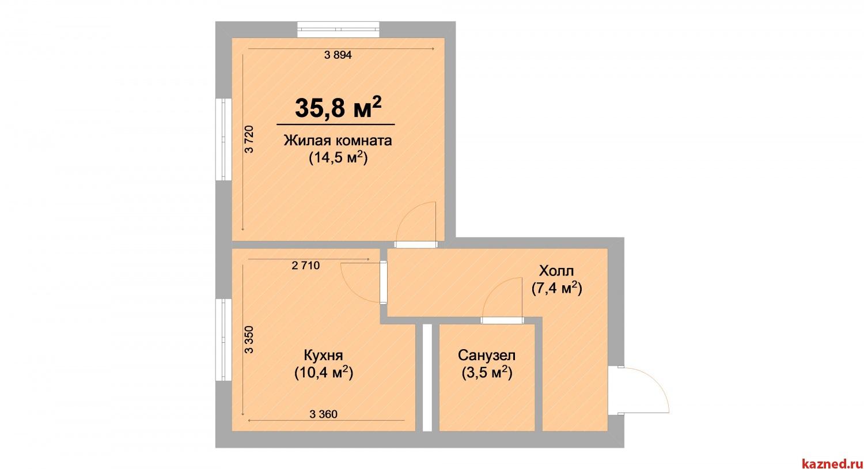 Продажа 1-к квартиры ЖК Светлый, 35 м2  (миниатюра №2)