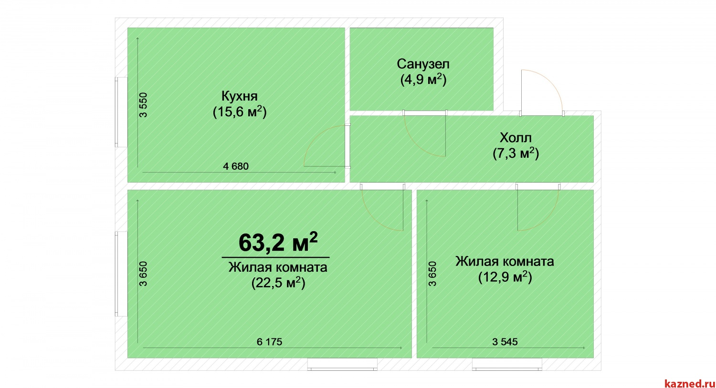 Продажа 2-комн.квартиру ЖК Светлый, 63 м2  (миниатюра №2)