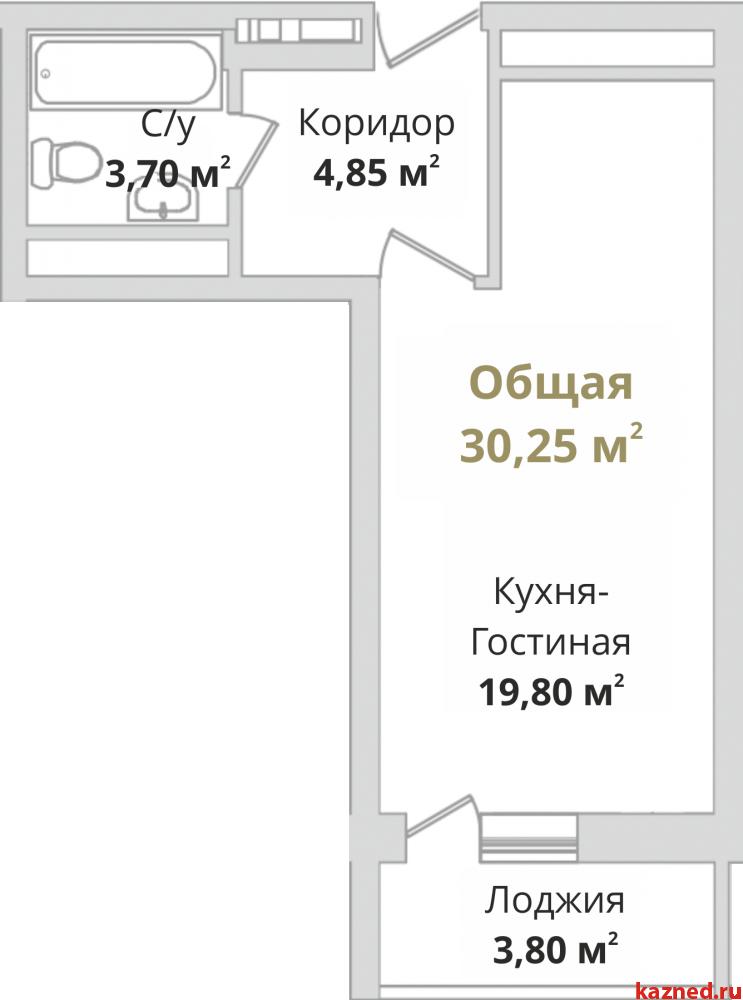 Продажа 1-к квартиры Гвардейская, 30 м2  (миниатюра №2)