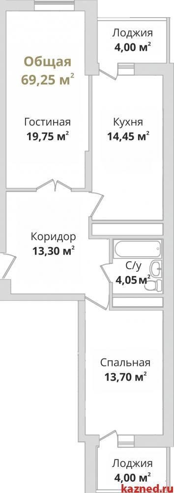 Продажа 2-к квартиры Гвардейская, 73 м² (миниатюра №1)