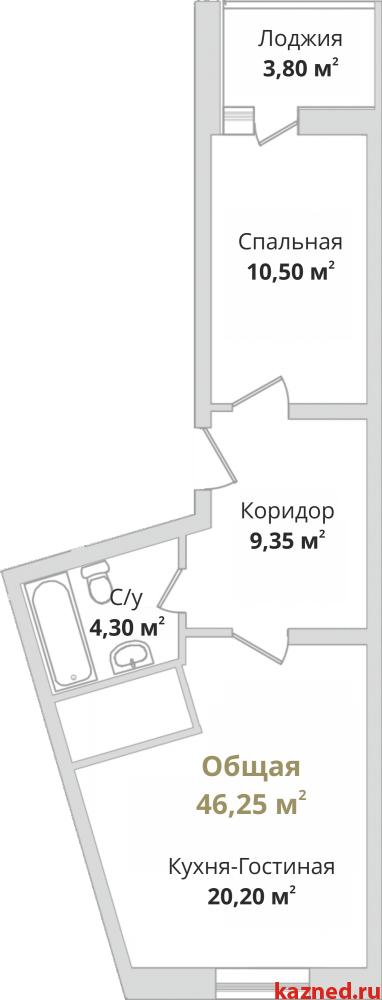 Продажа 1-к квартиры Гвардейская, 44 м²  (миниатюра №2)
