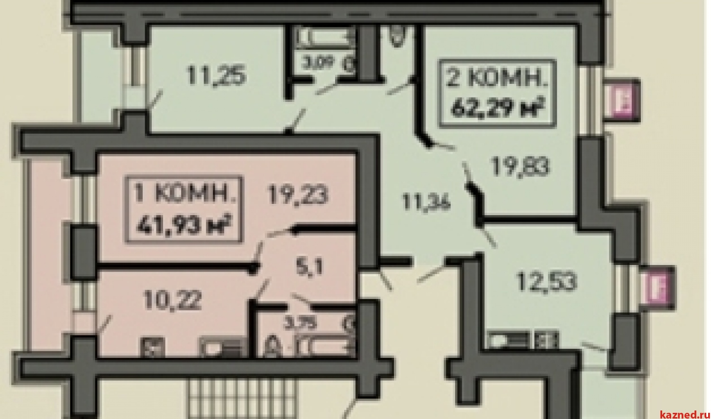 Продажа 2-к квартиры Лукина, д.52, 61 м² (миниатюра №3)