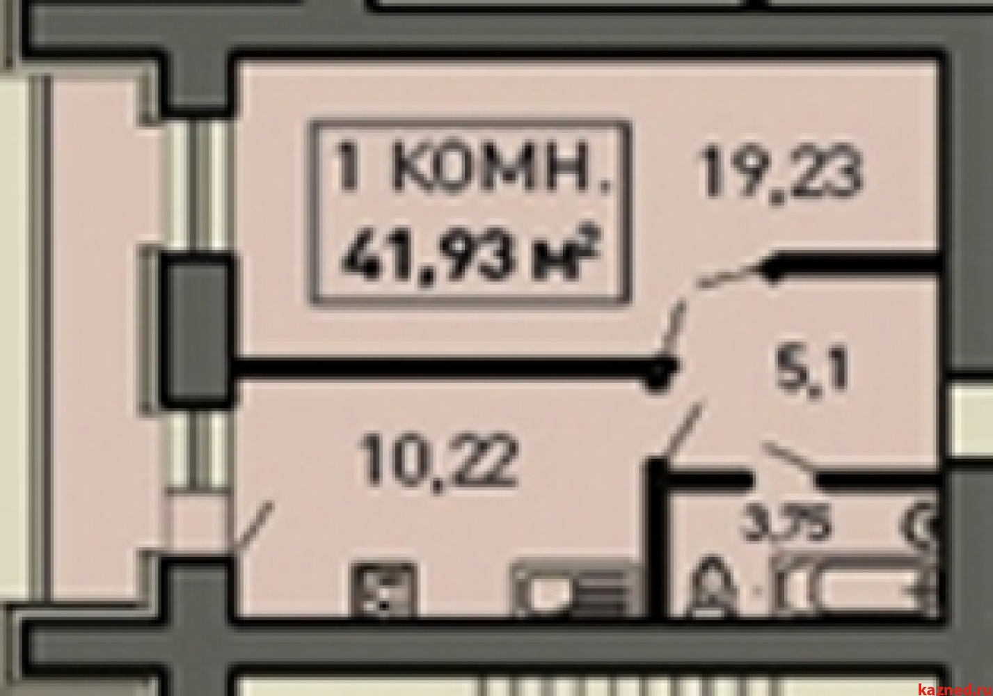 Продажа 1-к квартиры Лукина, д.52, 43 м²  (миниатюра №1)