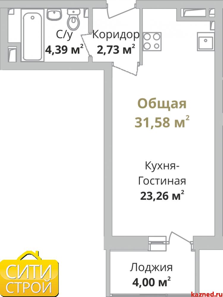 Продам 1-комн.квартиру Камая, 3 очередь, 31,1 м2  (миниатюра №1)