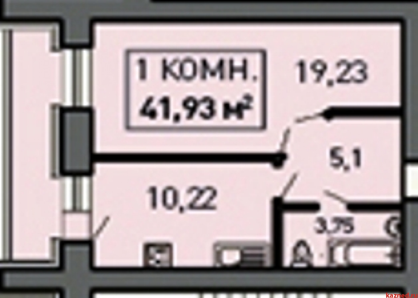 Продажа 1-к квартиры Лукина д.52, 41 м2  (миниатюра №1)
