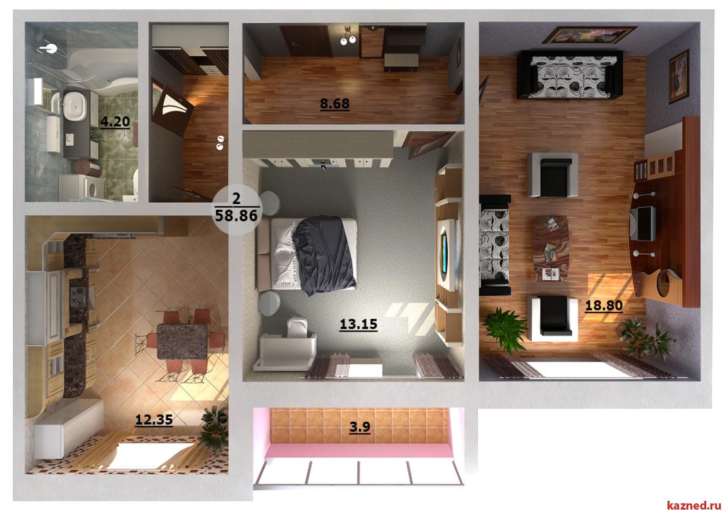 Продажа 2-к квартиры Н.Рахлина 7, 60 м² (миниатюра №6)