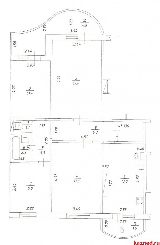 Продажа 3-к квартиры Гайсина,6, 90 м2  (миниатюра №9)