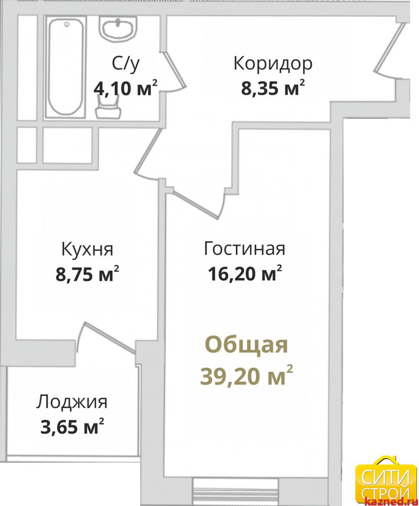 Продажа 1-к квартиры Гвардейская, 40 м² (миниатюра №2)