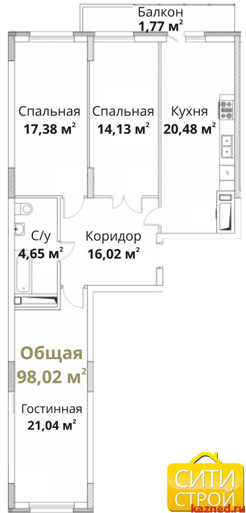 Продам 3-комн.квартиру Проточная, 101,8 м2  (миниатюра №1)