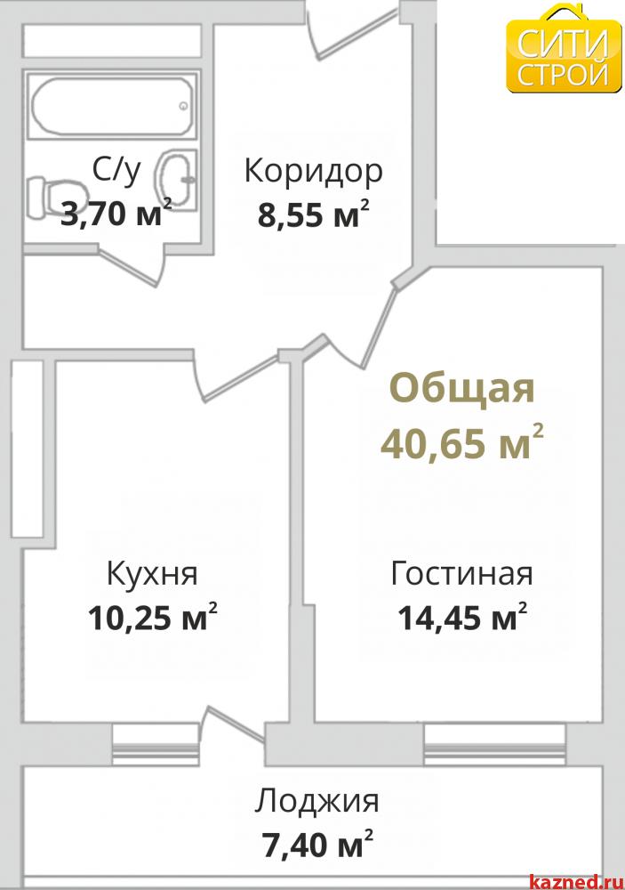 Продажа 1-к квартиры Гвардейская, 40 м2  (миниатюра №2)