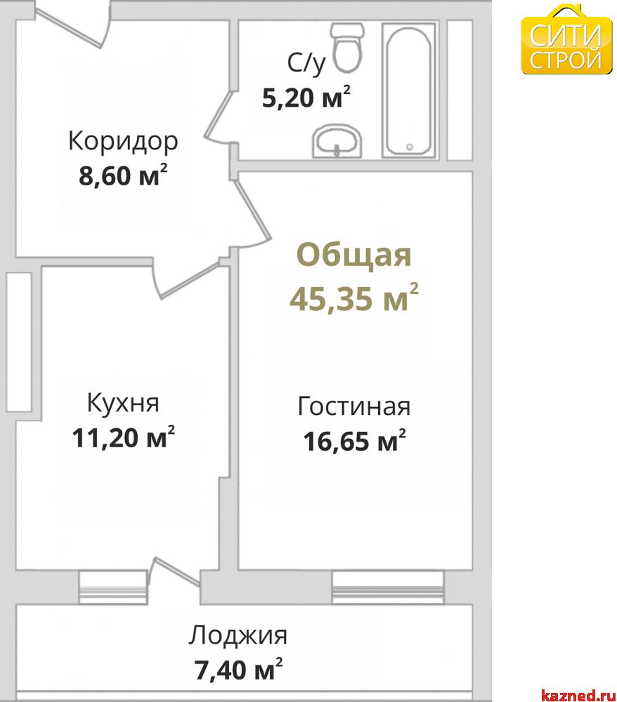 Продажа 1-к квартиры Гвардейская, 44 м²  (миниатюра №1)