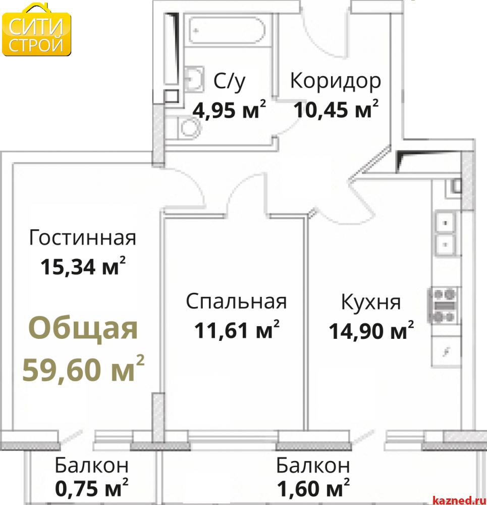 Продам 2-комн.квартиру Проточная, 59,2 м2  (миниатюра №1)