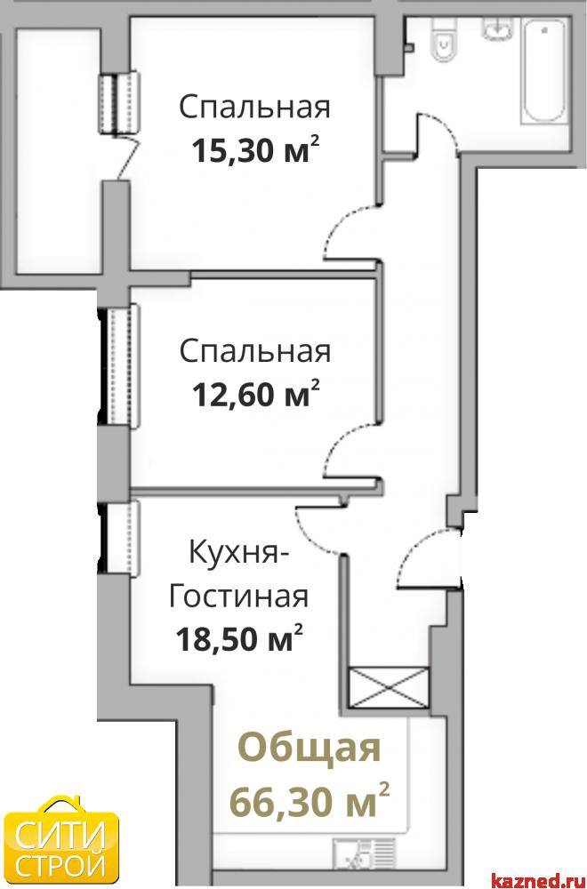 Продажа 2-к квартиры Камая 8, 1 очередь, 69 м2  (миниатюра №1)