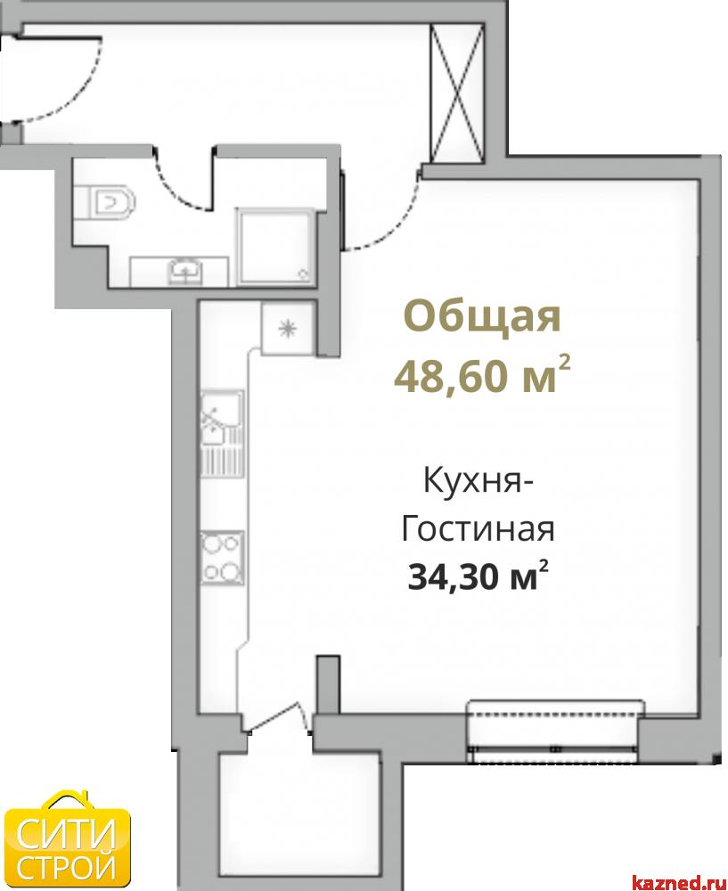 Продажа 1-к квартиры Камая 8, 1 очередь, 48 м2  (миниатюра №1)