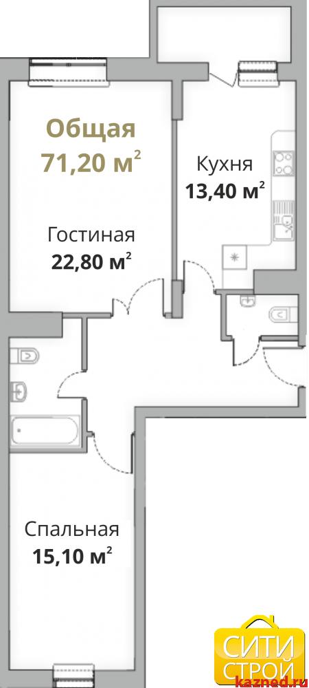 Продажа 2-к квартиры Камая 8, 1 очередь, 71 м²  (миниатюра №1)