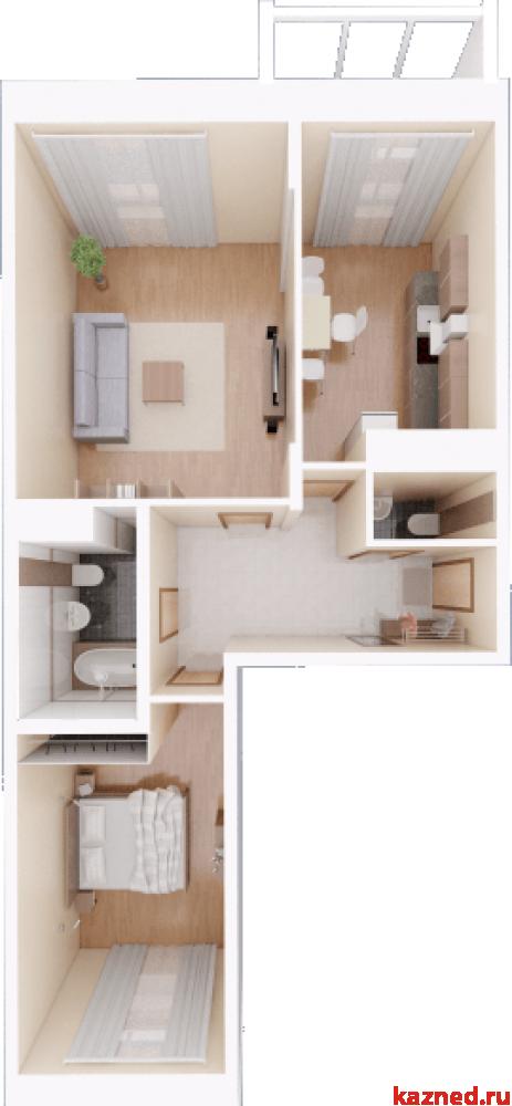 Продажа 2-к квартиры Камая 8, 1 очередь, 71 м²  (миниатюра №3)