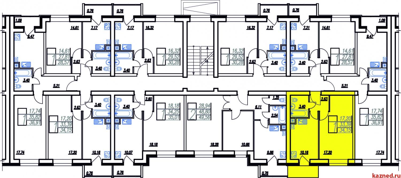 Продажа 1-к квартиры Мамадышский тракт, 34 м2  (миниатюра №8)