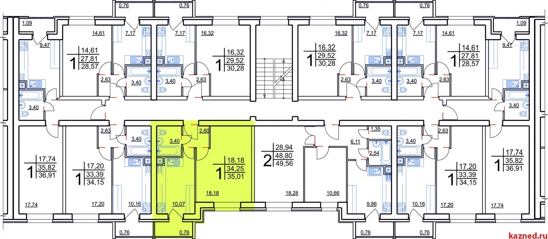 Продажа 1-к квартиры Мамадышский тракт, 35 м² (миниатюра №9)