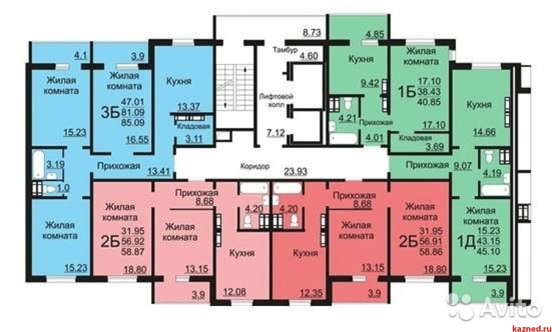 """Продажа 1-к квартиры Натана Рахлина,7 ЖК """"Светлая долина"""", 42 м2  (миниатюра №2)"""