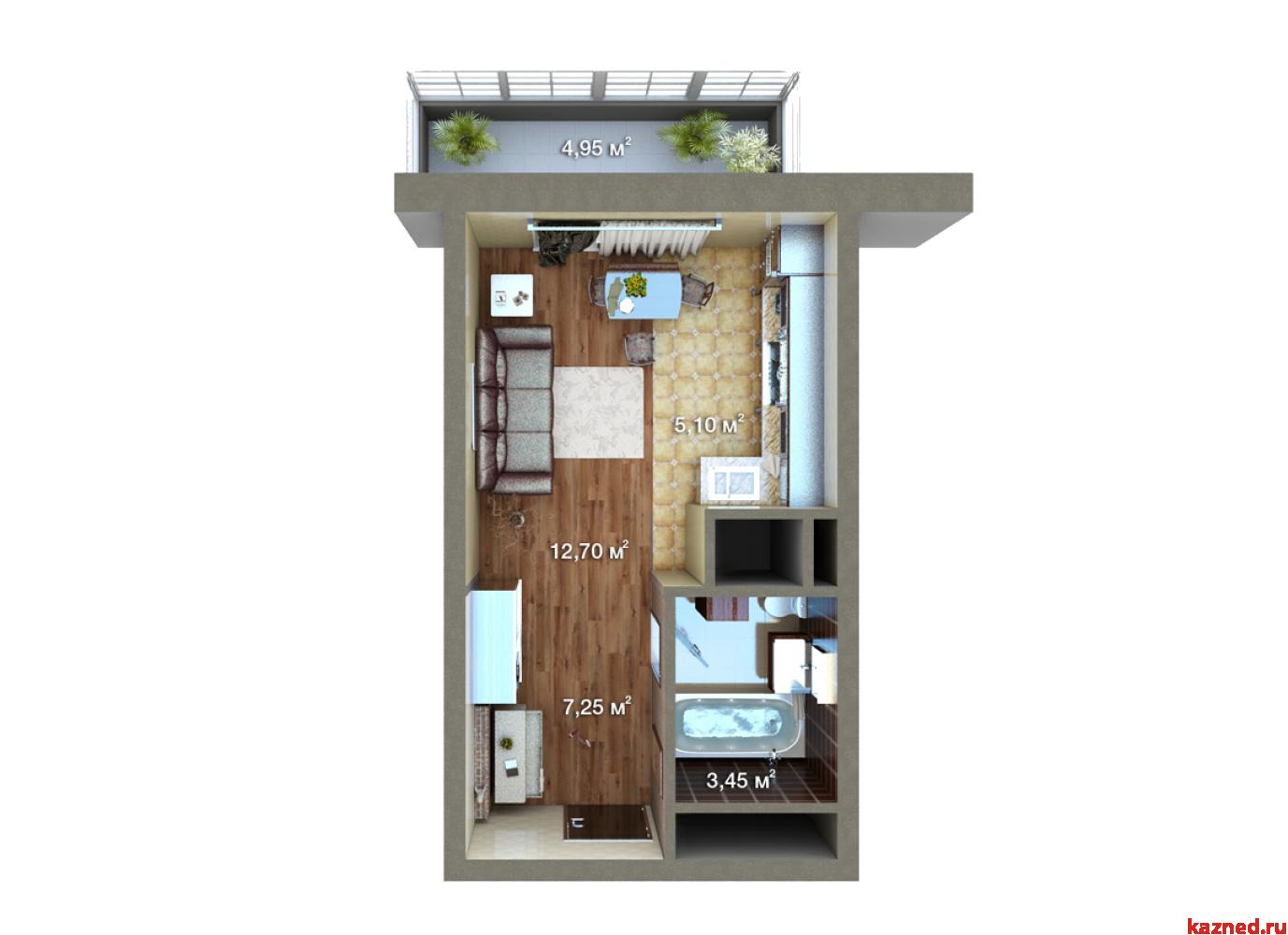 Продажа 1-к квартиры Мамадышский тракт, 36 м²  (миниатюра №6)