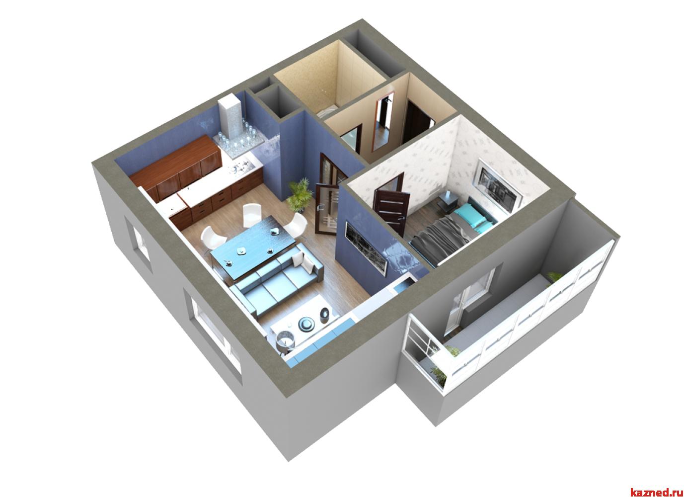 Продажа 2-к квартиры Мамадышский тракт, 45 м2  (миниатюра №14)
