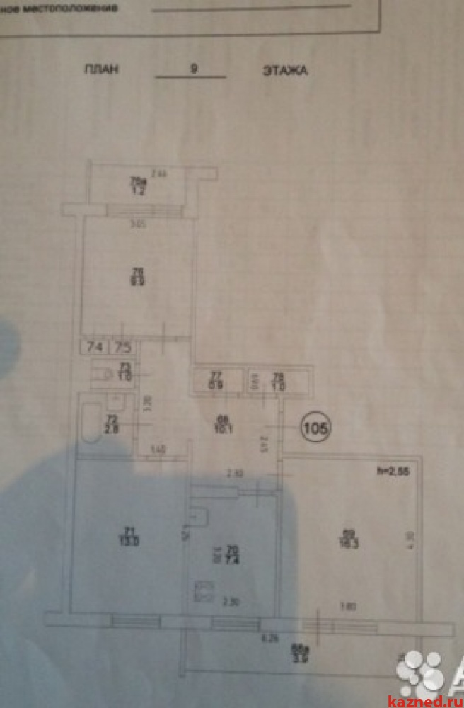 Продажа 3-к квартиры Фучика 44, 68 м²  (миниатюра №11)