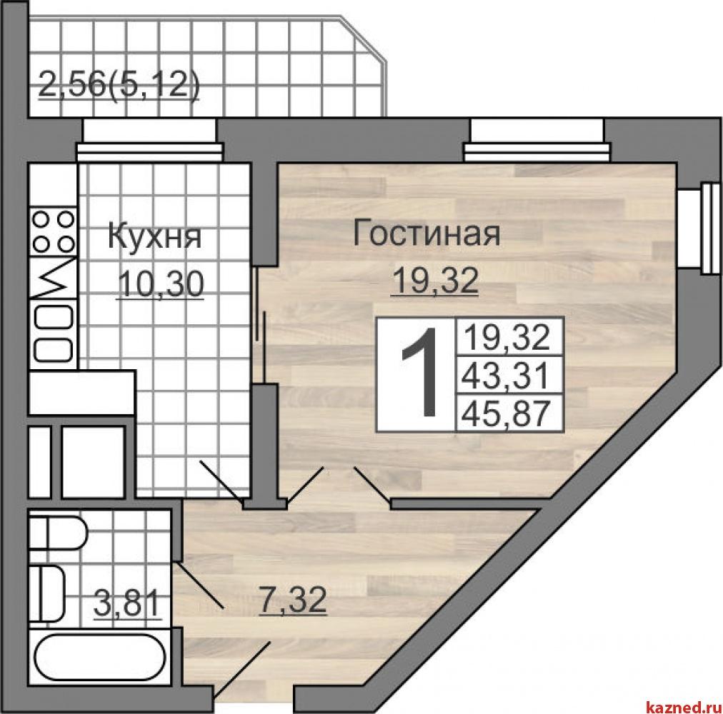 Продажа 1-к квартиры Гвардейская 59а, 43 м2  (миниатюра №1)