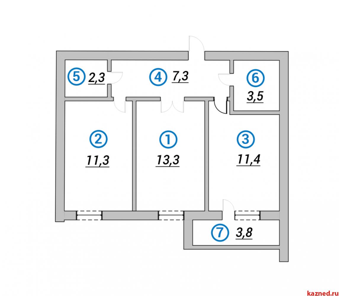 Продажа 2-к квартиры 1-я Азинская, 51 м² (миниатюра №1)
