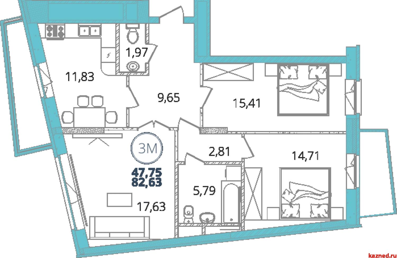 Продажа 3-к квартиры дубравная 28А, 83 м2  (миниатюра №3)