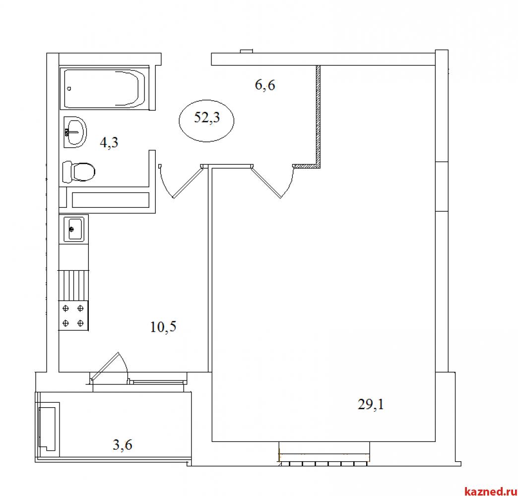 1-ком 52,3 кв.м. 2/5-эт. в центре. Дом сдан (миниатюра №2)