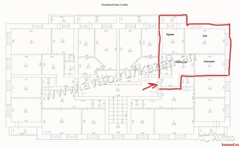 Продажа 2-к квартиры Комсомольская, д. 26, 74 м²  (миниатюра №3)