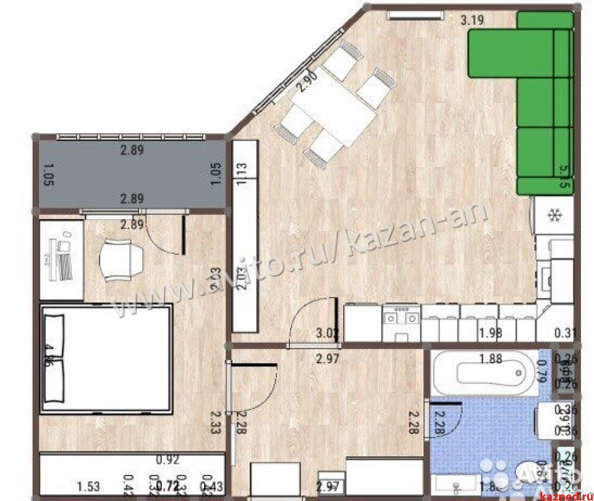 Продажа 2-к квартиры Четаева 12, 51 м² (миниатюра №2)