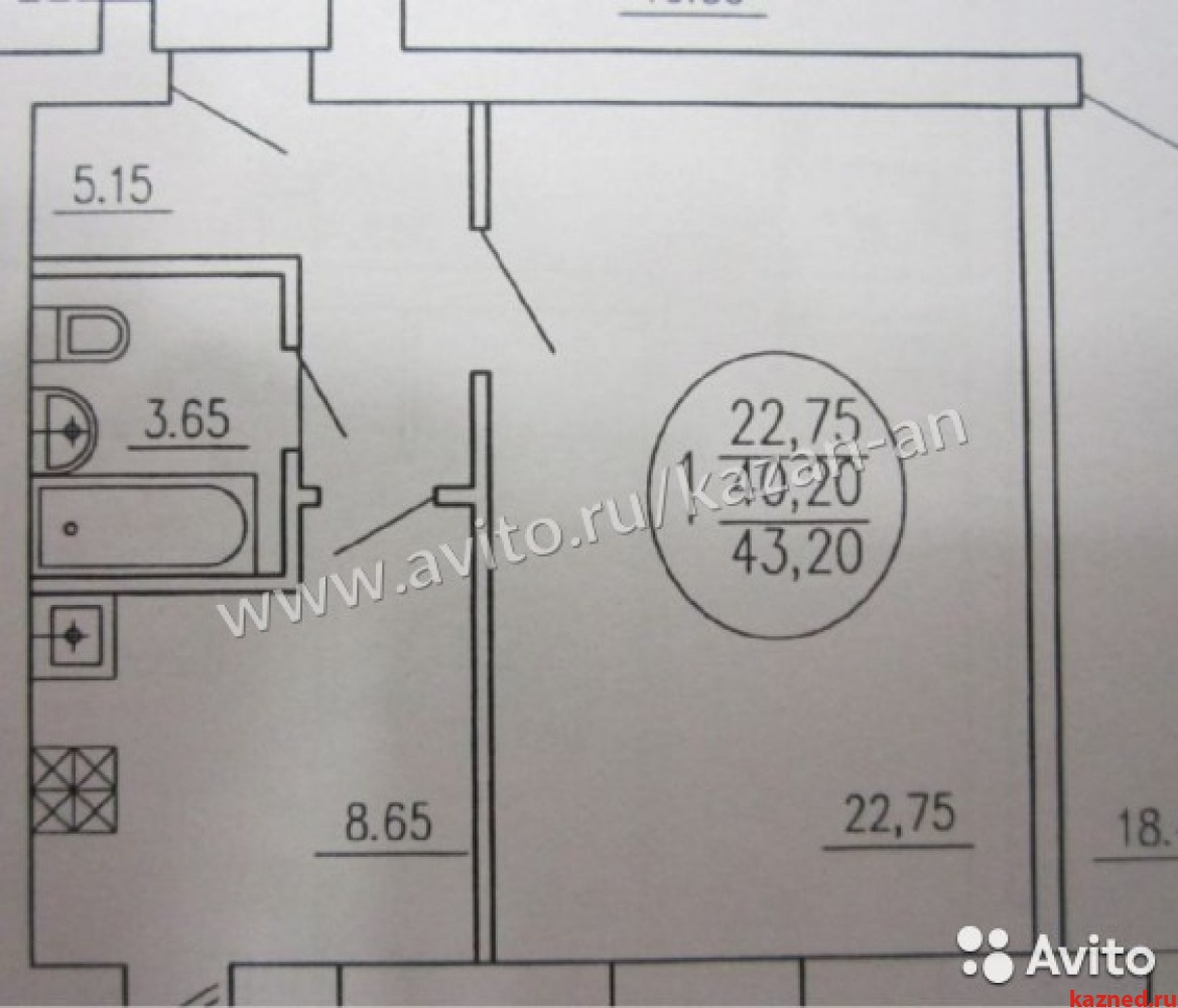 Продажа 1-к квартиры Лядова д15, 44 м² (миниатюра №2)