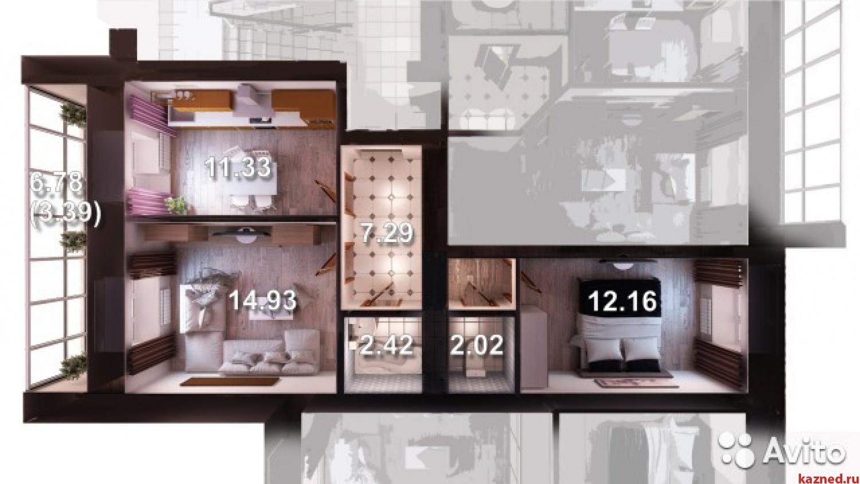 Продажа 2-к квартиры Мамадышский тракт SELGROS, 55 м2  (миниатюра №1)