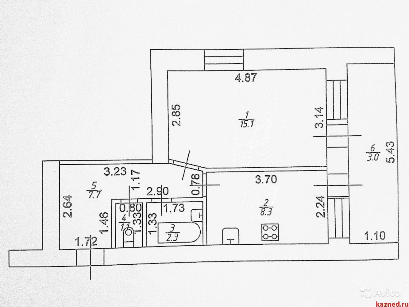 Продажа 1-к квартиры Новая, 7, 37 м²  (миниатюра №23)