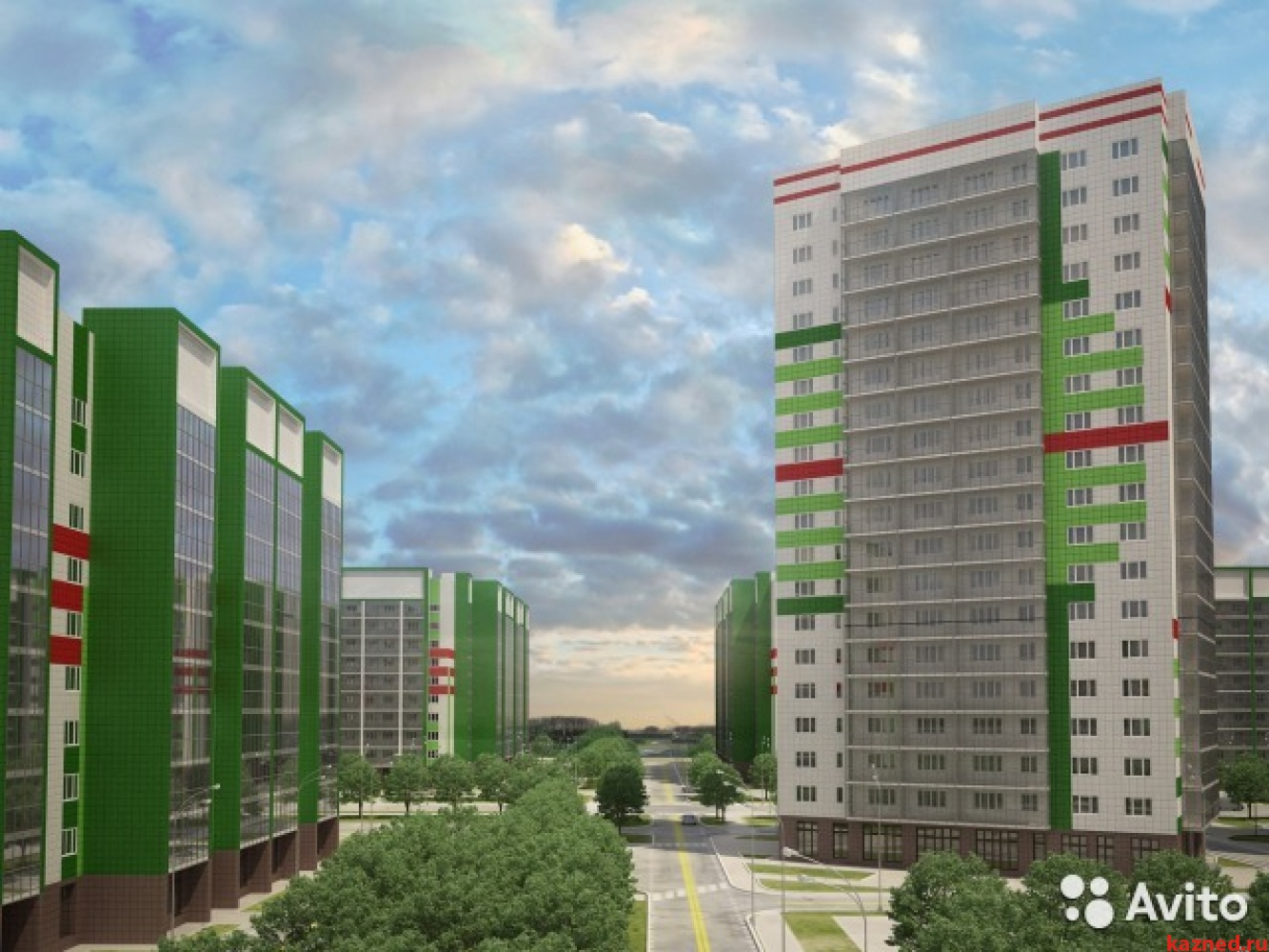 Продажа 1-к квартиры мамадышский тракт дом 5, ЖК ВЕСНА, 35 м² (миниатюра №1)