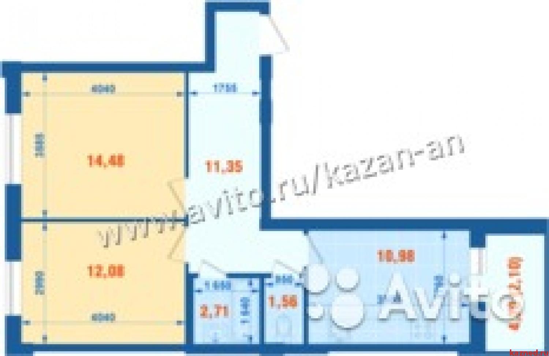 Продажа 2-к квартиры Семь островов -Тэцевская 100, 48 м2  (миниатюра №3)