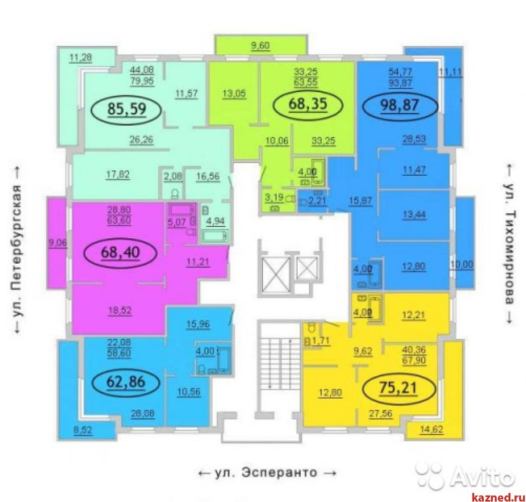 Продажа 2-к квартиры Петербургская 65 а, 65 м² (миниатюра №2)