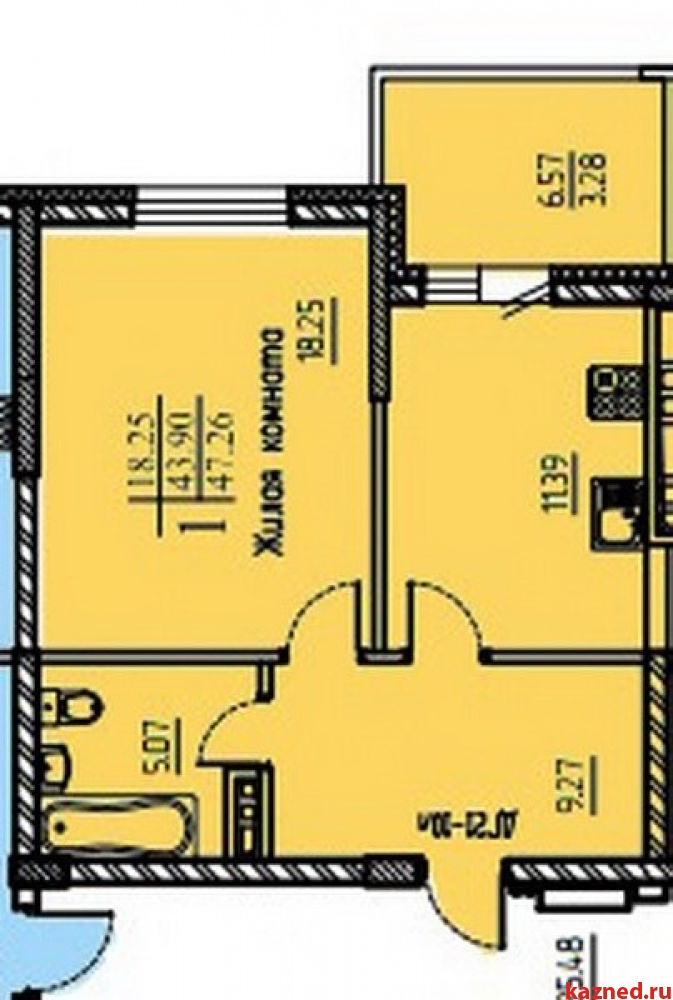 Продажа 1-к квартиры Шуртыгина,8, 47 м²  (миниатюра №1)