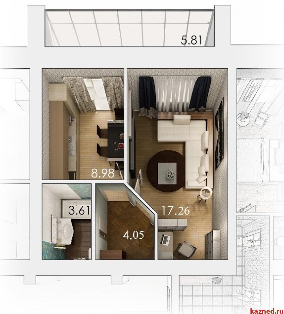 Продажа 1-к квартиры Патриса Лумумбы 1, 37 м² (миниатюра №4)