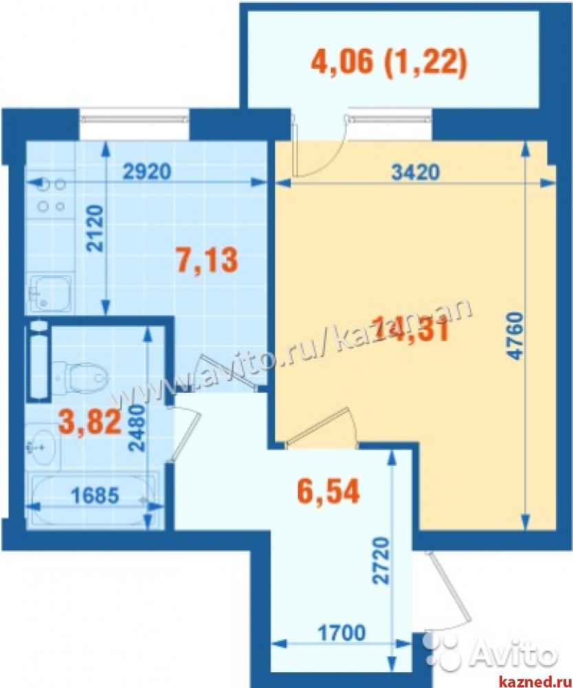 Продажа 1-к квартиры Тэцевская 7б ЖК 7 Островов, 32 м2  (миниатюра №3)