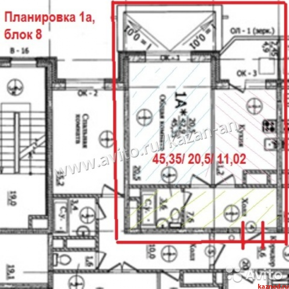 Продажа 1-к квартиры Лукина/ул. Годовикова, дом 2, 45 м2  (миниатюра №5)
