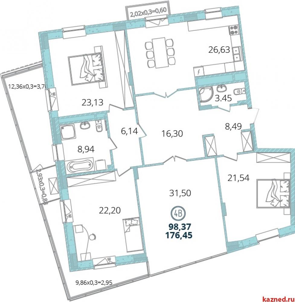 Продам 4-комн.квартиру Дубравная 16А-16, 176 м2  (миниатюра №3)