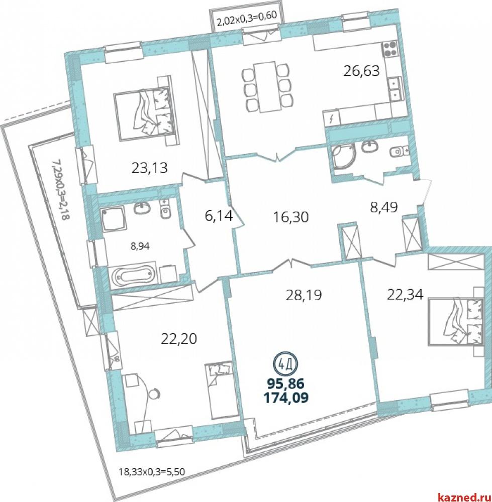 Продажа 4-к квартиры Дубравная 16А-16, 174 м²  (миниатюра №4)