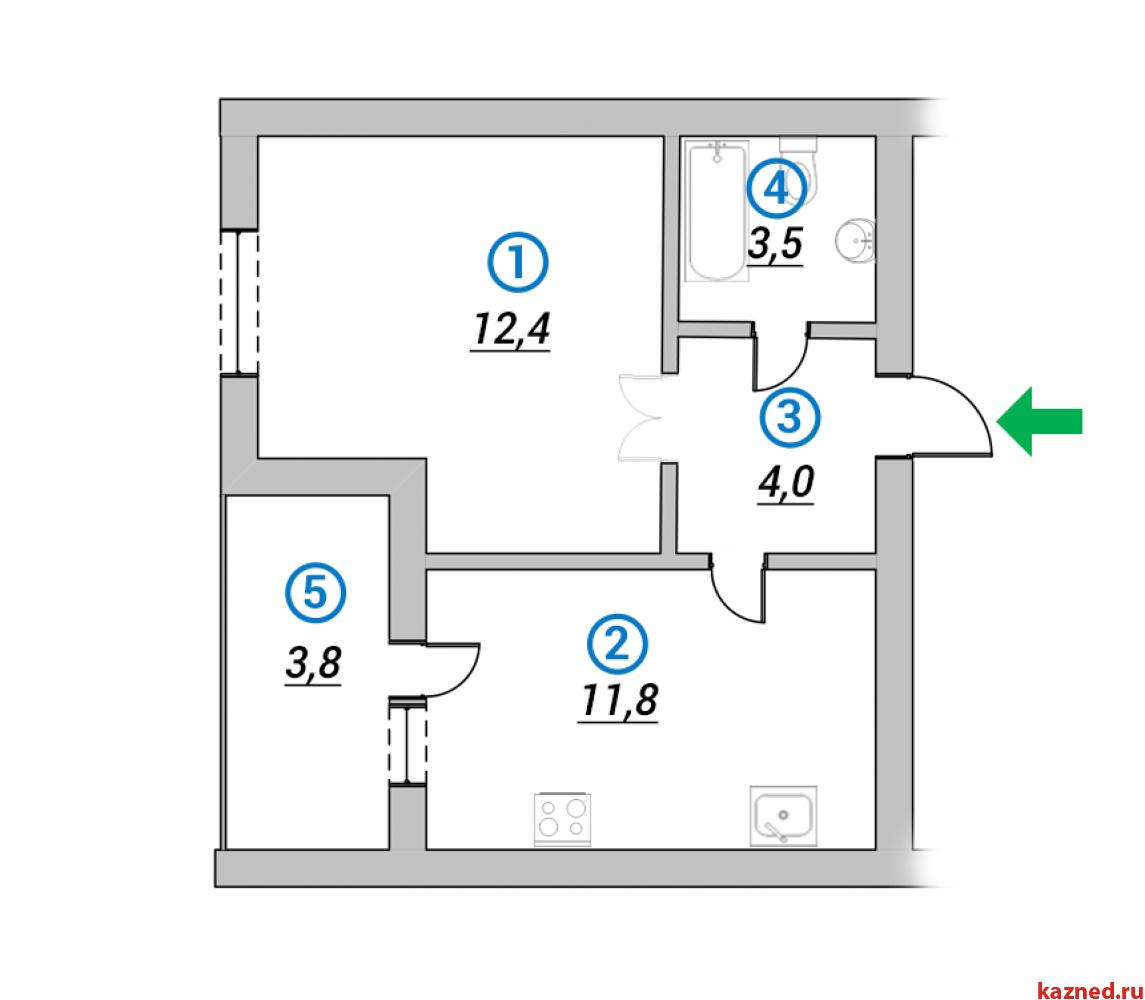 Продажа 2-к квартиры 1-ая Азинская, 68 м2  (миниатюра №3)